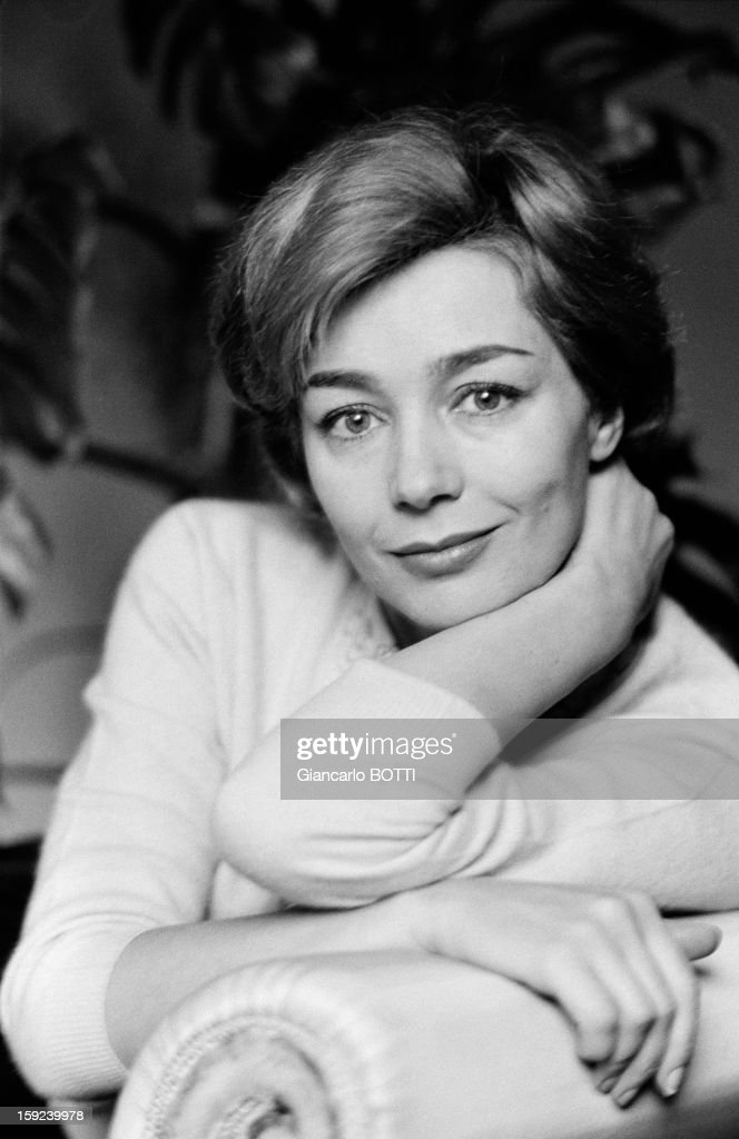 French actress Emmanuelle Riva in Paris, Sixties.