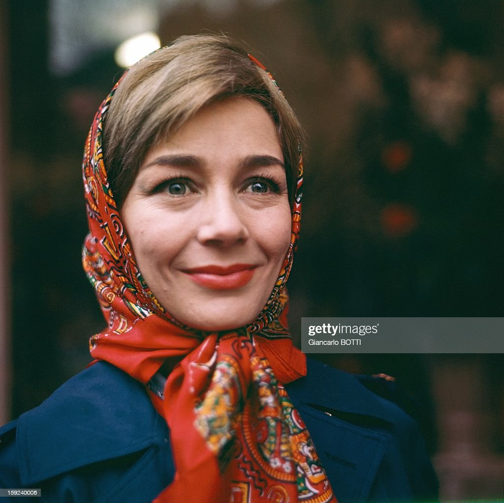 French actress Emmanuelle Riva, Paris, seventies.