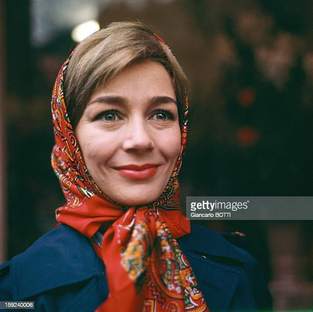 French actress Emmanuelle Riva Paris seventies