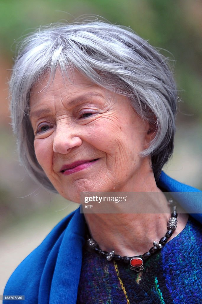 French actress Emmanuelle Riva poses during a photocall for 'Amour' on October 9, 2012 in Rome. 'Amour' a film by Austrian film director Michael Haneke with French actress Emmanuelle Riva and actor Jean-Louis Trintignant won the Palme d'Or at the 2012 Cannes film festival.