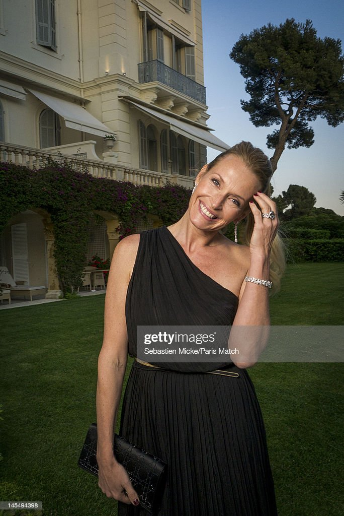 French actress Estelle Lefebure, photographed at the amfAR Cinema Against AIDS gala, for Paris Match on May 24, 2012, in Cap d'Antibes, France.