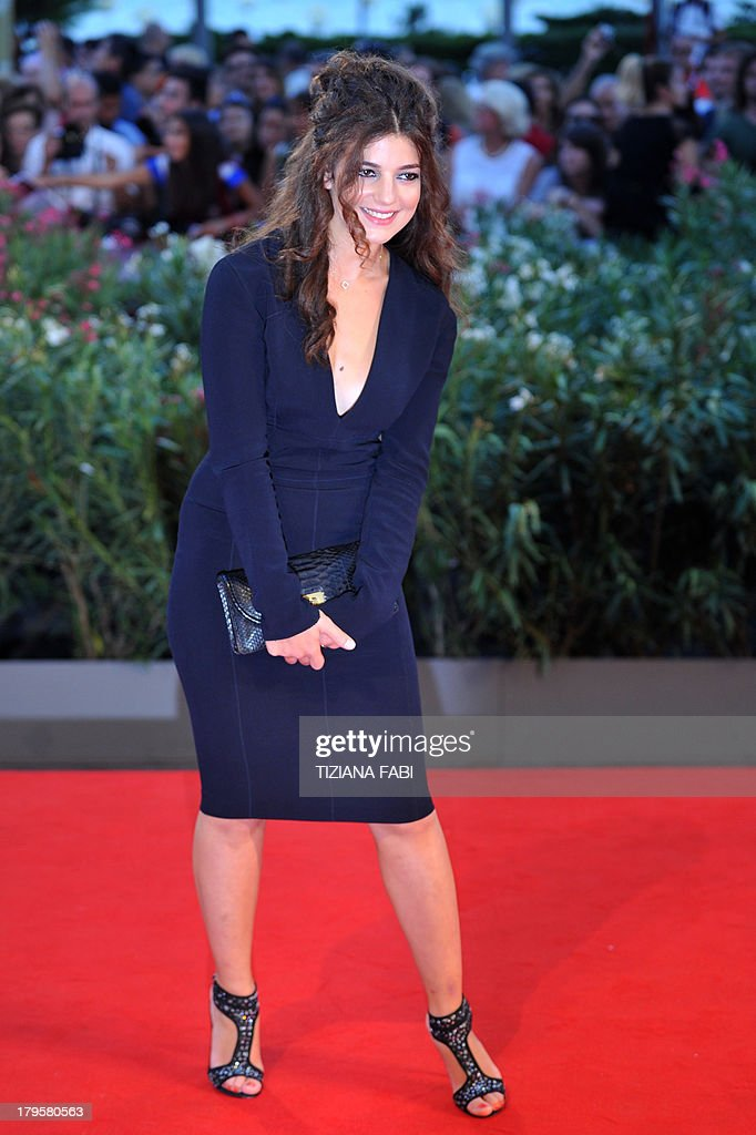 French actress Esther Garrel arrives for the screening of 'La Jalousie' presented in competition at the 70th Venice Film Festival on September 5, 2013 at Venice Lido.