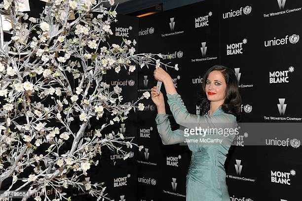 French actress Eva Green attends the Montblanc Charity Cocktail hosted by The Weinstein Company to benefit UNICEF held at Soho House on March 6 2010...