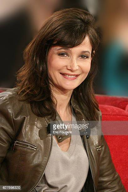 French actress Evelyne Bouix is one of the guests invited on 'Vivement Dimanche' TV show presented by Michel Drucker