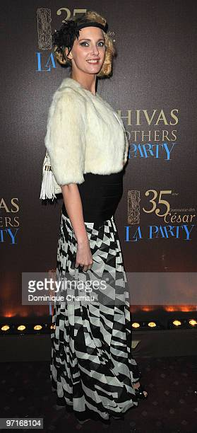 French Actress Frederique Bel attends the 35th Cesar Film Awards After Party at Dancing Mimi Pinson on February 28 2010 in Paris France