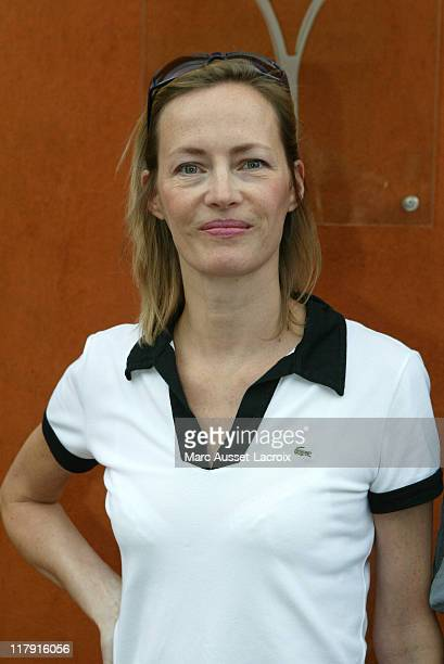 French actress Gabrielle Lazure poses in the 'Village' the VIP area of the French Open at Roland Garros arena in Paris France on June 1 2007