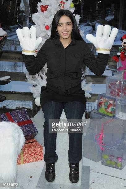 French actress Hafsia Herzi attends the Disneyland Magic Christmas Season Launch at Disneyland Resort Paris on November 7 2009 in Paris France
