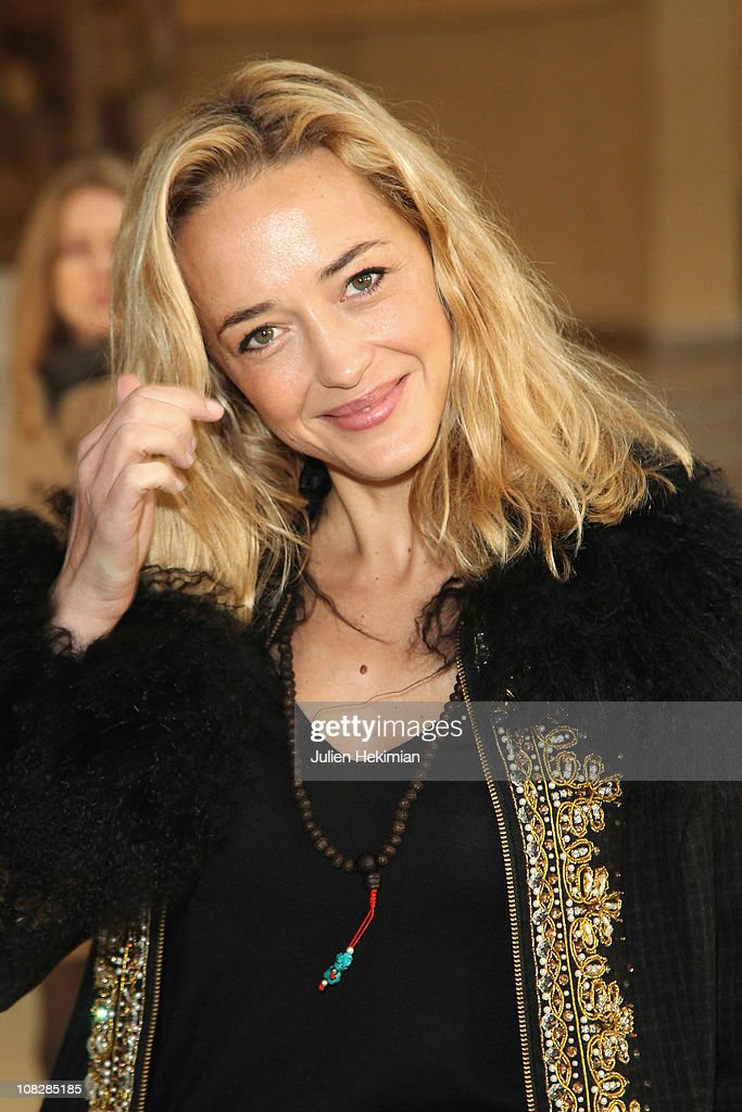 French actress Helene de Fougerolles attends the Alexis Mabille show as part of the Paris Haute Couture Fashion Week Fall/Winter 2011 at Musee...