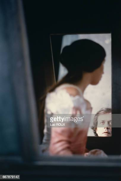 French actress Isabelle Adjani and director Patrice Chereau on the set of Chereau's 1994 film La Reine Margot
