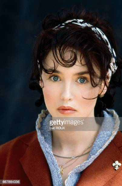 French actress Isabelle Adjani during makeup and a photo shoot for the release of the film Toxic Affair directed by Philomene Esposito for the French...