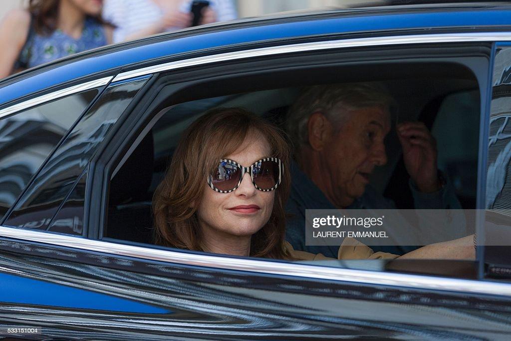 photo of Isabelle Huppert  - car