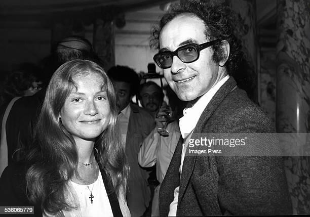 French actress Isabelle Huppert and filmmaker JeanLuc Godard New York City circa 1980