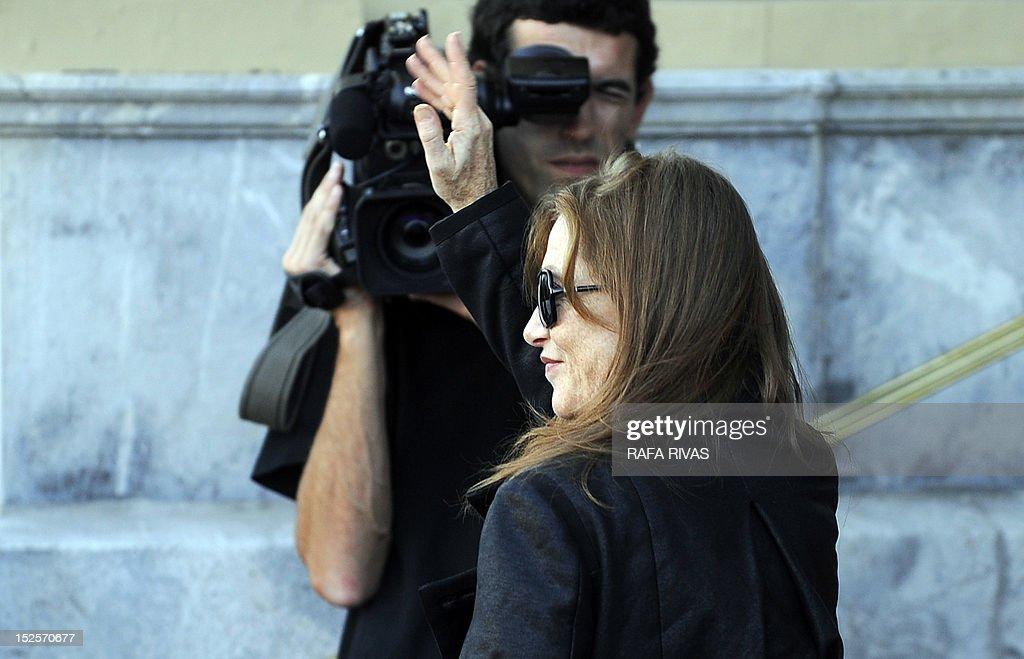French actress Isabelle Huppert arrives at the Maria Cristina hotel to take part in the 60th San Sebastian International Film Festival, on September 22, 2012, in the northern Spanish Basque city of San Sebastian.