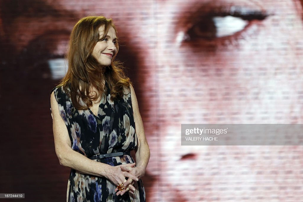 French actress Isabelle Huppert arrives for the tribute during the opening ceremony of the 12th Marrakesh International Film Festival on November 30, 2012 in Marrakesh.