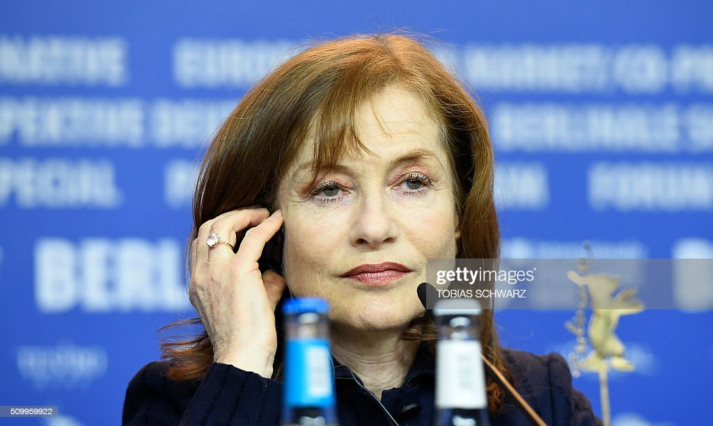 French actress Isabelle Huppert attends a press conference for the film 'L'Avenir' (Things to Come) in competition at the 66th Berlinale Film Festival in Berlin on February 13, 2016. / AFP / TOBIAS SCHWARZ