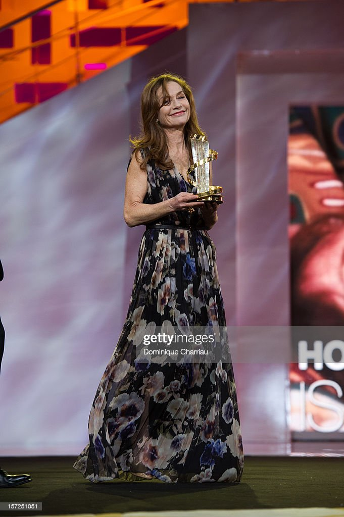 French Actress Isabelle Huppert awarded during her tribute during the opening ceremony of the 12th Marrakech International Film Festival on November 30, 2012 in Marrakech, Morocco.