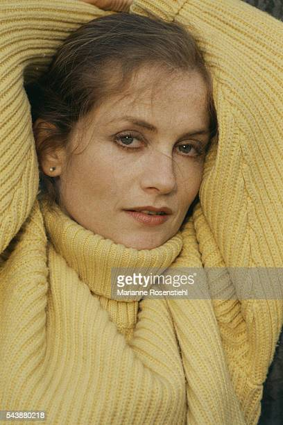 French actress Isabelle Huppert in Warsaw on the set of Les Possedes written and directed by Polish director Andrzej Wajda