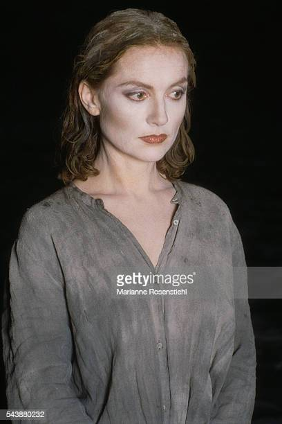 French actress Isabelle Huppert is la Pucelle in the play Jeanne d'Arc au Bucher directed by Claude Regy and performed at Opera Bastille in Paris