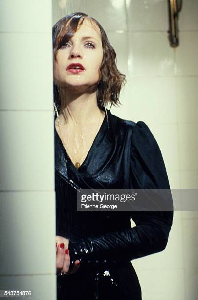 French actress Isabelle Huppert on the set of the film 'Violette Noziere' directed by French director Claude Chabrol Huppert won the 1978 Cannes Film...