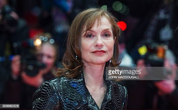 French actress Isabelle Huppert poses for photographers on the red carpet for the film 'L'Avenir' in competition at the 66th Berlinale Film Festival...