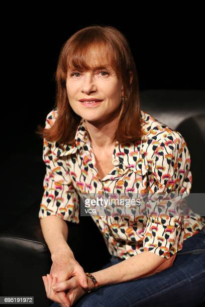 French actress Isabelle Huppert receives an interview at Guangzhou Opera House on June 12 2017 in Guangzhou Guangdong Province of China