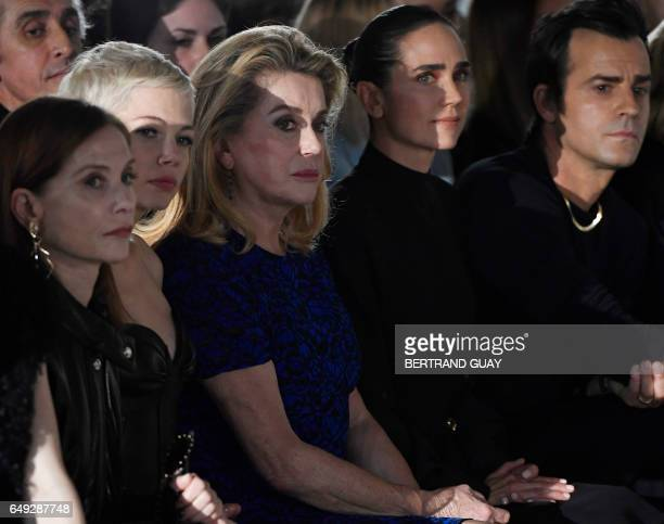French actress Isabelle Huppert US actress Michelle Williams French actress Catherine Deneuve US actress Jennifer Connelly and US actor Justin...