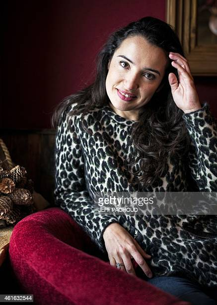 French actress Isabelle Vitari poses on January 16 2015 during the 18th Comedy film festival in L'Alpe d'Huez AFP PHOTO / JEFF PACHOUD