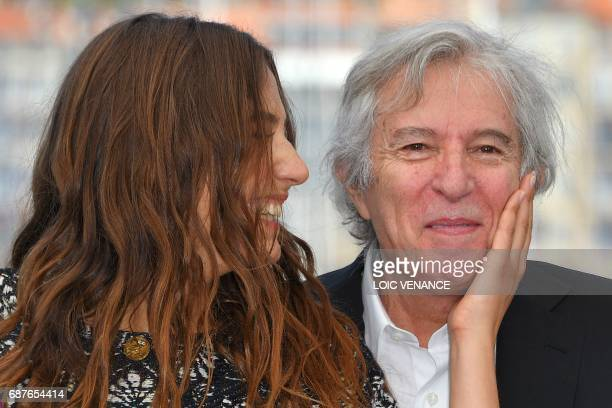 TOPSHOT French actress Izia Higelin and French director Jacques Doillon pose on May 24 2017 during a photocall for the film 'Rodin' at the 70th...