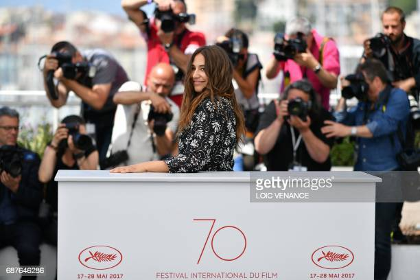 TOPSHOT French actress Izia Higelin poses on May 24 2017 during a photocall for the film 'Rodin' at the 70th edition of the Cannes Film Festival in...