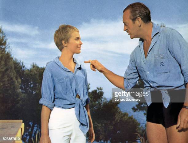 French actress Jean Seberg and British actor David Niven in the 1957 film 'Bonjour Tristesse' by the Austrianborn director Otto Preminger