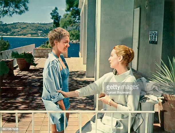 French actress Jean Seberg and British actress Deborah Kerr in the 1957 film 'Bonjour Tristesse' by the Austrianborn director Otto Preminger