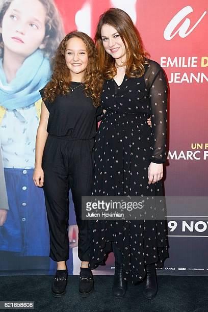 French actress Jeanne Jestin and Emilie Dequenne attend 'Maman A Tort' Paris Premiere at UGC Cine Cite des Halles on November 7 2016 in Paris France