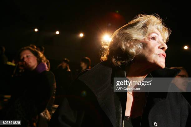 French actress Jeanne Moreau attends the presentation of the men's readytowear fall/winter 20062007 collections by French designer Heidi Slimane for...