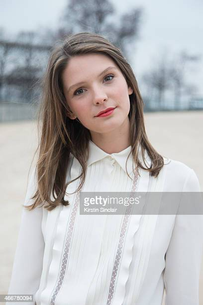 French actress Josephine Japy on day 8 of Paris Collections Women on March 10 2015 in Paris France