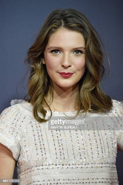 French actress Josephine Japy poses as she arrives for the 40th edition of the Cesar Awards ceremony on February 20 2015 at the Chatelet theatre in...