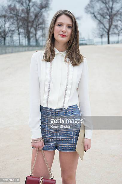 French actress Josephine Japy wears all Valentino on day 8 of Paris Collections Women on March 10 2015 in Paris France