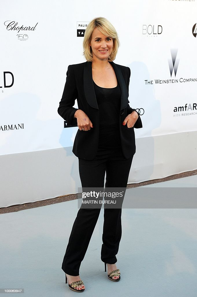 French actress Judith Godreche poses while arriving at amfAR's Cinema Against Aids 2010 benefit gala on May 20, 2010 in Antibes, southeastern France.