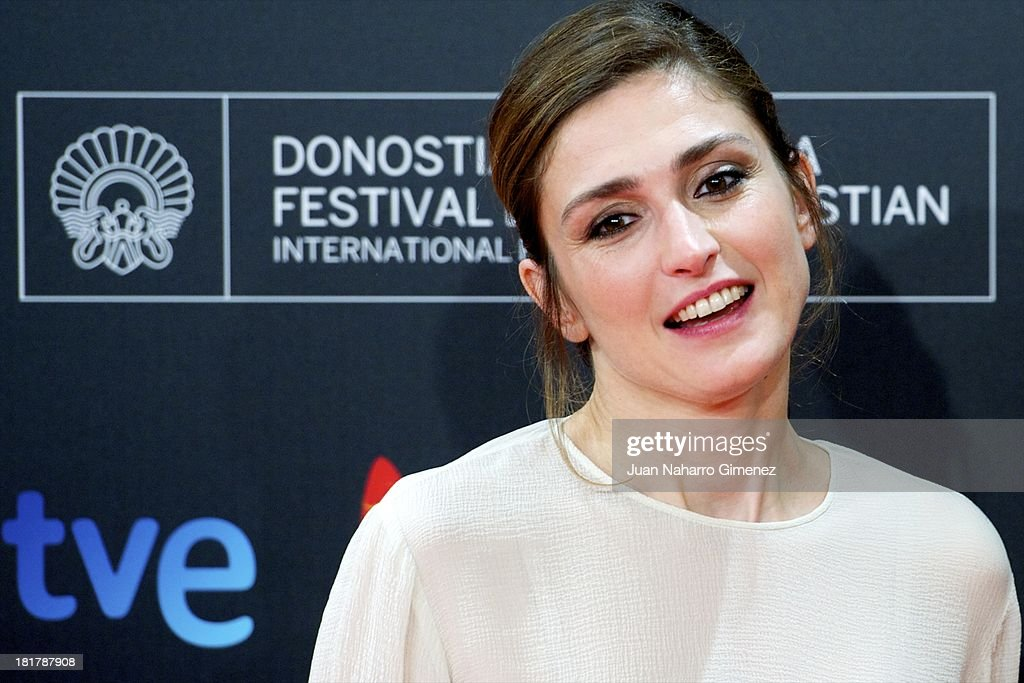 French actress <a gi-track='captionPersonalityLinkClicked' href=/galleries/search?phrase=Julie+Gayet&family=editorial&specificpeople=221651 ng-click='$event.stopPropagation()'>Julie Gayet</a> attends 'Quai D'Orsay' premiere at Kursaal during 61st San Sebastian International Film Festival on September 24, 2013 in San Sebastian, Spain.