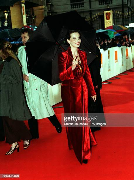 French actress Juliette Binoche arrives at the Grosvenor House Hotel for the 50th BAFTA award ceremony