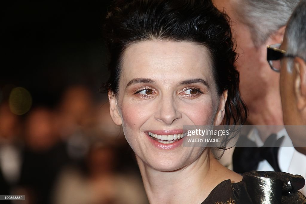 French actress Juliette Binoche arrives for the screening of 'Copie Conforme (Certified Copy) presented in competition at the 63rd Cannes Film Festival on May 18, 2010 in Cannes.