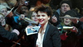 French actress Juliette Binoche arrives on the red carpet prior to the screening of the film 'Camille Claudel 1915' presented in the Berlinale...