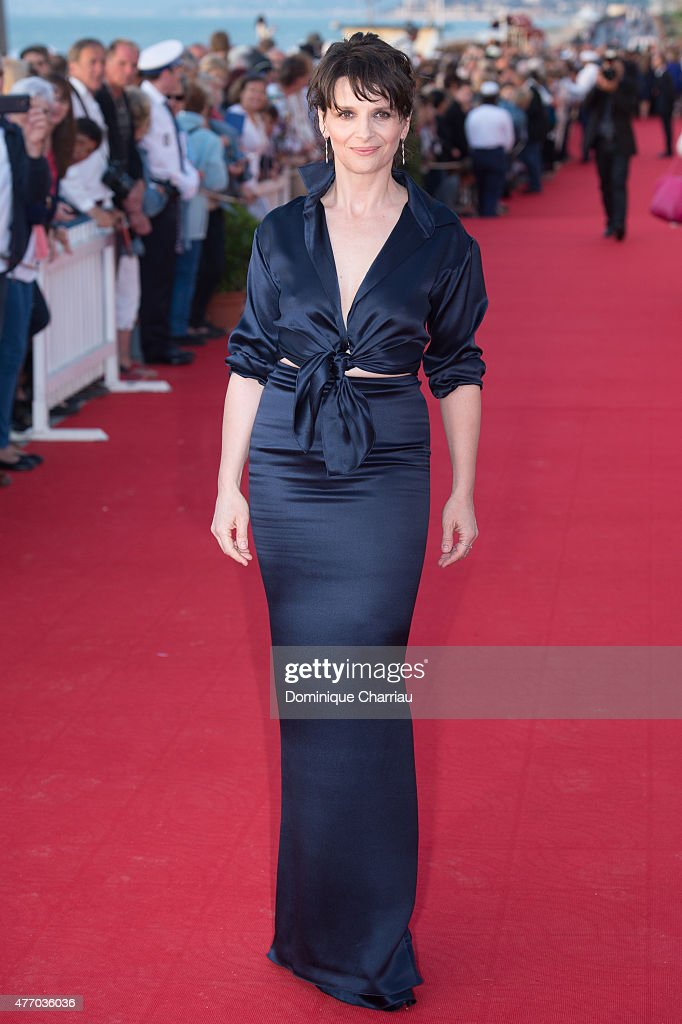French Actress Juliette Binoche attends the closing ceremony of the 29th Cabourg Film Festival on June 13 2015 in Cabourg France