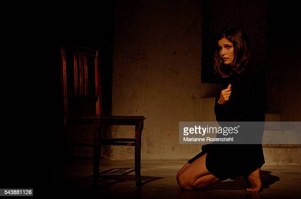 French actress Laetitia Casta during the rehearsals of the play Elle t'attend written and directed by Florian Zeller at the Theatre de la Madeleine...