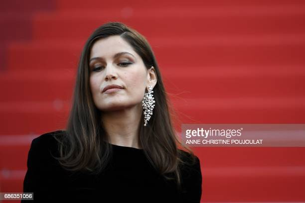 French actress Laetitia Casta poses as she arrives on May 21 2017 for the screening of the film 'The Meyerowitz Stories ' at the 70th edition of the...