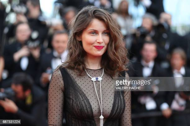 French actress Laetitia Casta poses as she arrives on May 23 2017 for the '70th Anniversary' ceremony of the Cannes Film Festival in Cannes southern...