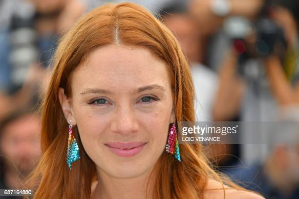 French actress Laetitia Dosch poses on May 23 2017 during a photocall for the film 'Jeune Femme' at the 70th edition of the Cannes Film Festival in...