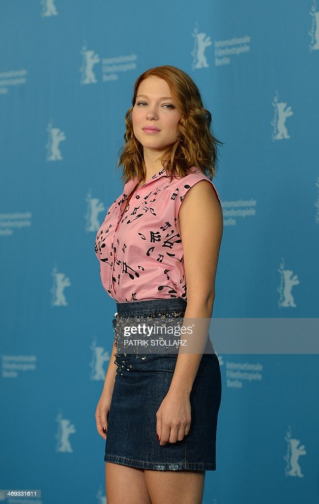 French actress Lea Seydoux poses during the photocall for the film La Belle Et La Bete presented in the Berlinale competition of the 64th Berlinale...