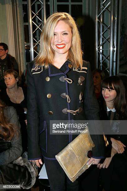 French actress Lilou Fogli attends Alexis Mabille show as part of Paris Fashion Week Haute Couture Spring/Summer 2015 on January 26 2015 in Paris...