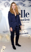 French actress Margaux Chatelier poses before the presentation of the movie 'Belle and Sébastien' of French film director Nicolas Vanier on November...