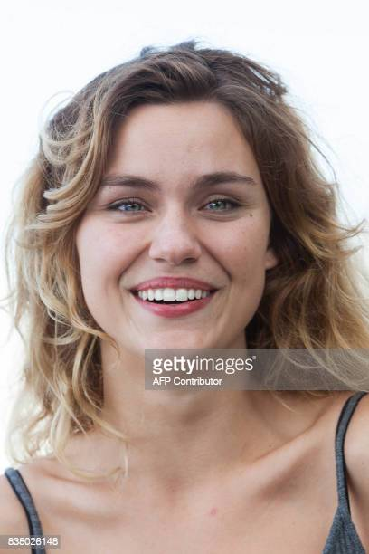 French actress Margot Luciarte poses during a photocall of the 'Talents Adami Cannes 2017' during the 10th Angouleme Francophone Film Festival in...